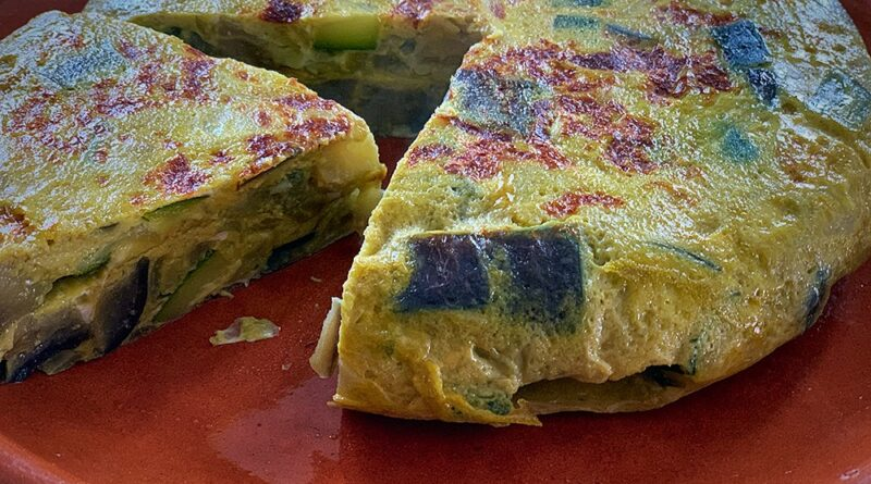 Tortilla de berenjena y calabacín