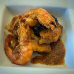 Alitas de pollo con langostinos y shiitake