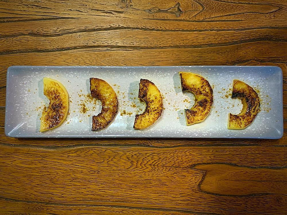 Manzana a la plancha con curry
